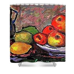 Fruit Shower Curtain by Pemaro
