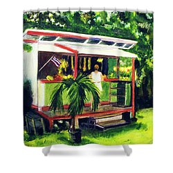 Fruit Stand North Shore Oahu Hawaii #163 Shower Curtain by Donald k Hall