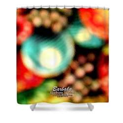 Shower Curtain featuring the photograph Fruit Sticker by Barbara Tristan