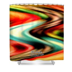 Shower Curtain featuring the photograph Fruit Sticker Evolves by Barbara Tristan