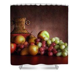 Fruit With Vase Shower Curtain by Tom Mc Nemar