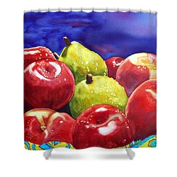 Fruitfully Yours Shower Curtain by Gerald Carpenter