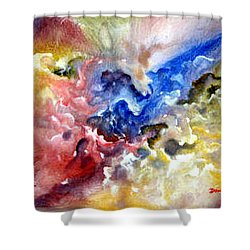 Shower Curtain featuring the painting Fruitfulness by Raymond Doward