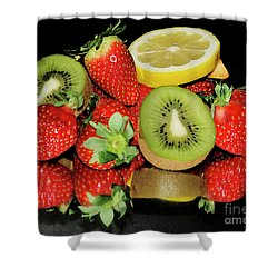 Shower Curtain featuring the photograph Fruits by Elvira Ladocki