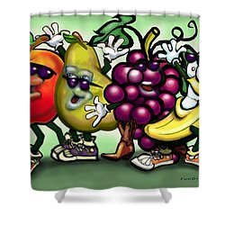 Fruits Shower Curtain by Kevin Middleton