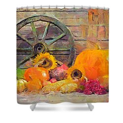 Shower Curtain featuring the painting Fruits Of Thanks by Wayne Pascall