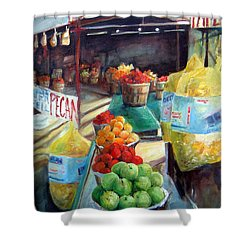 Fruitstand Rhythms Shower Curtain