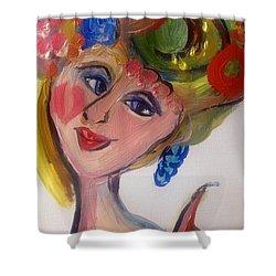 Fruity Fascinator  Shower Curtain by Judith Desrosiers