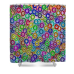 Shower Curtain featuring the digital art Fruity Loops Fun by Riana Van Staden