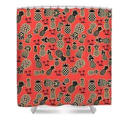 Fruity Pineapple  Shower Curtain by Naviblue