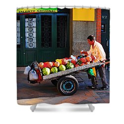 Fruta Limpia Shower Curtain by Skip Hunt