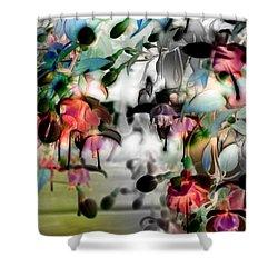 Fuchsia Abstract Shower Curtain by Stuart Turnbull