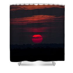 Fuchsia Dusk  Shower Curtain