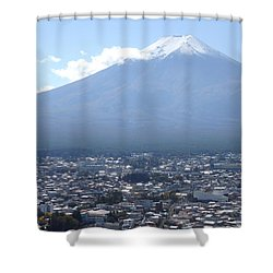 Fuji From Churei Tower Shower Curtain