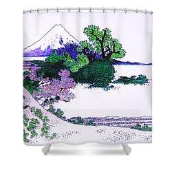 Fuji Yoshido Shower Curtain by Roberto Prusso