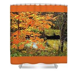 Full Autumn Bloom Shower Curtain