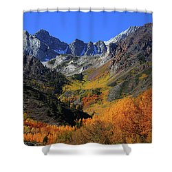 Full Autumn Display At Mcgee Creek Canyon In The Eastern Sierras Shower Curtain