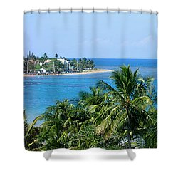 Full Beach View Shower Curtain