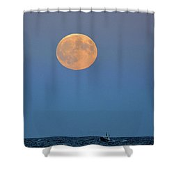Full Blood Moon Shower Curtain by Nancy Landry