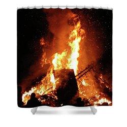 Full Bonfire Shower Curtain