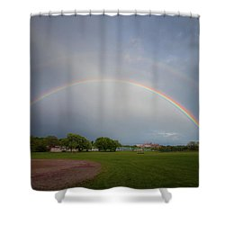 Full Double Rainbow Shower Curtain