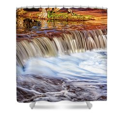 Full Flow, Noble Falls, Perth Shower Curtain by Dave Catley