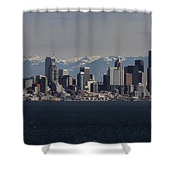 Full Frontal Seattle Shower Curtain by James Heckt