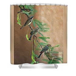 Shower Curtain featuring the photograph Full House Op17 by Mark Myhaver