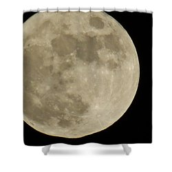Full Moon 11/25/15 Shower Curtain by Mikki Cucuzzo