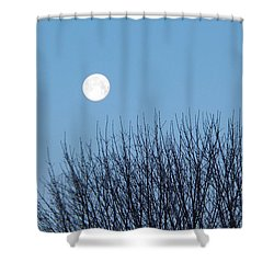 Full Moon At Dawn Shower Curtain