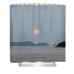 Full Moon At The Beach Shower Curtain