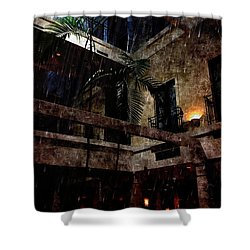 Full Moon At Tremont Toujouse Bar Shower Curtain