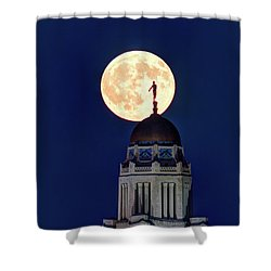 Full Moon Before The Eclipse Shower Curtain