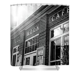 Shower Curtain featuring the photograph Full Moon Cafe by David Sutton