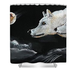 Full Moon Shower Curtain by Carole Robins