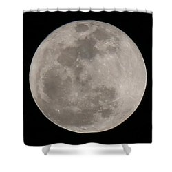 Shower Curtain featuring the photograph Full Moon  by Christy Pooschke