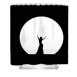 Full Moon Dance Shower Curtain