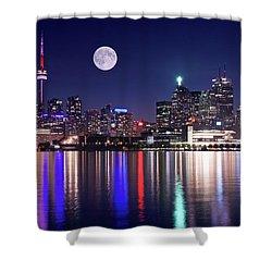 Full Moon In Toronto Shower Curtain