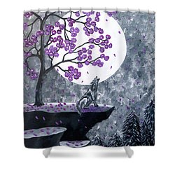 Full Moon Magic Shower Curtain by Teresa Wing
