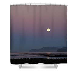 Full Moon On Shipwreck Point Shower Curtain