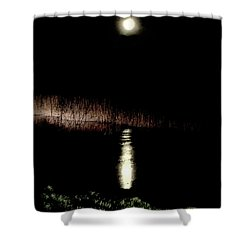 Full Moon Over Piermont Creek Shower Curtain
