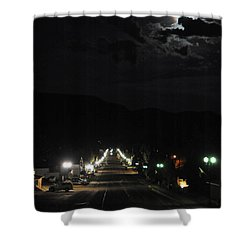 Full Moon Over Red River Shower Curtain