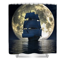 Full Moon Pirates Shower Curtain