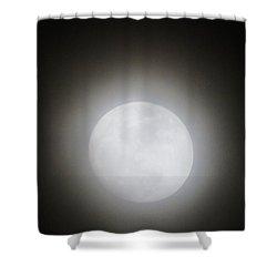Full Moon Ring Shower Curtain