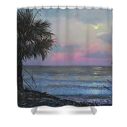 Full Moon Rising Shower Curtain by Blue Sky