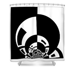 Shower Curtain featuring the digital art Full Moon Rising by Wendy J St Christopher