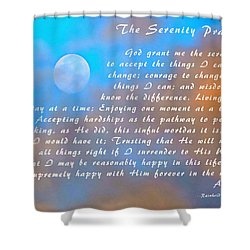 Shower Curtain featuring the photograph Full Moon Serenity Prayer Digital by Floyd Snyder