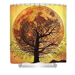 Full Moonrise. Shower Curtain