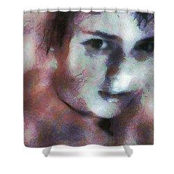 Full Of Expectation Shower Curtain by Gun Legler