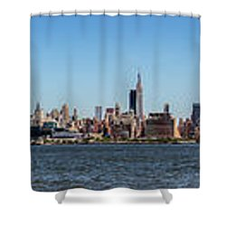 Full On New Yourk Shower Curtain by James Heckt